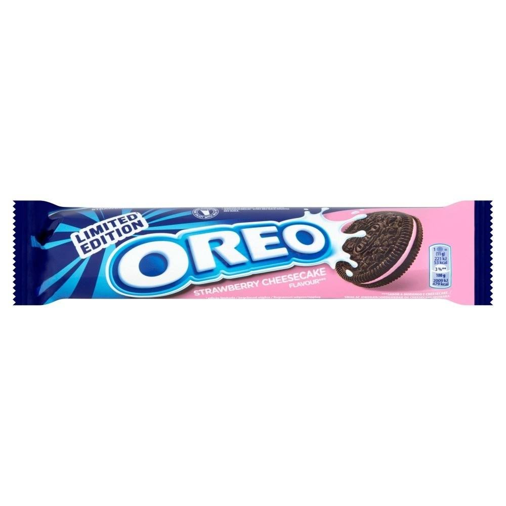 Oreo Sandwich Biscuits - Strawberry Cheesecake, 154g