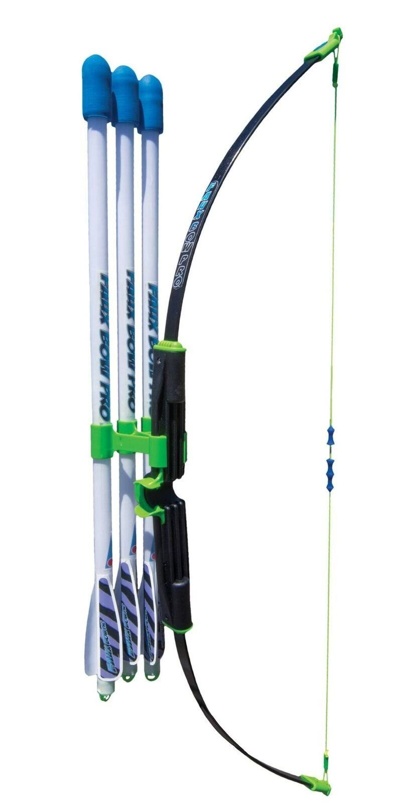 Marky Sparky Faux Bow Pro - Shoots Over 200 Feet - Bow and Patented Arrow Archery Set