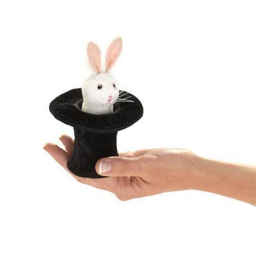 Folkmanis 2709 Mini Rabbit in Hat Finger Puppet