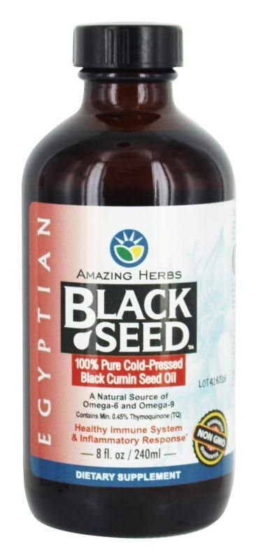 Amazing Herbs Egyptian Black Seed Oil - 8oz
