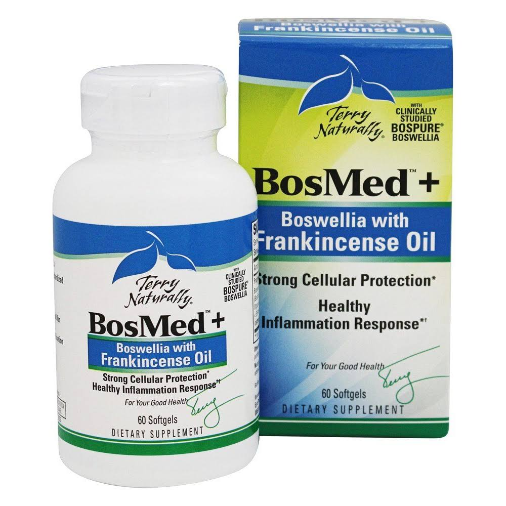 Terry Naturally BosMed Plus Boswellia Dietary Supplement - with Frankincense Oil, 60 Count