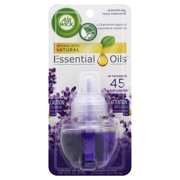 Air Wick Scented Oil Air Freshener - Lavender and Chamomile Scent, 1 Refill, 0.67oz