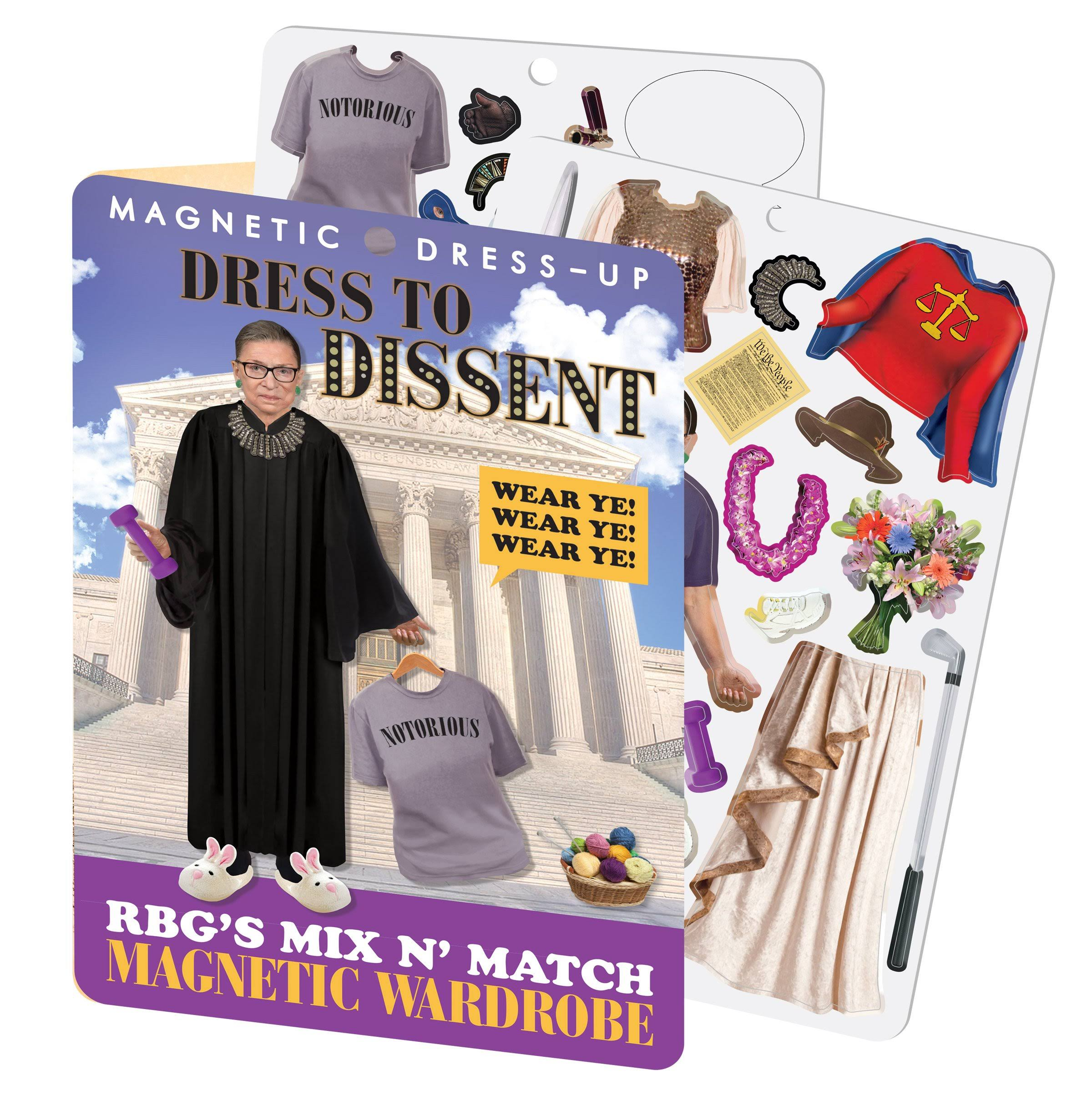 RBG Dress to Dissent - Ruth Bader Ginsburg Magnetic Dress Up Play Set