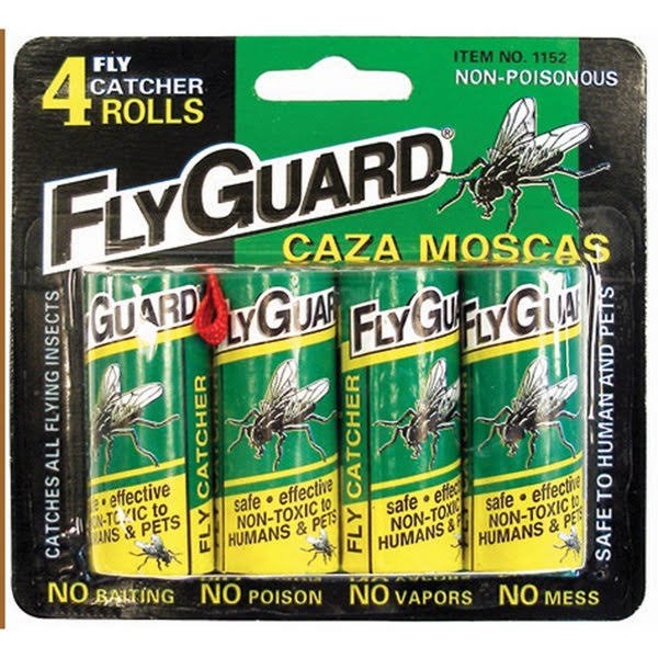 Fly Paper Ribbon Insect Trap - 4pk