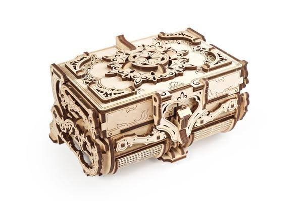 Ugears Antique Box Mechanical Wooden Model Kit
