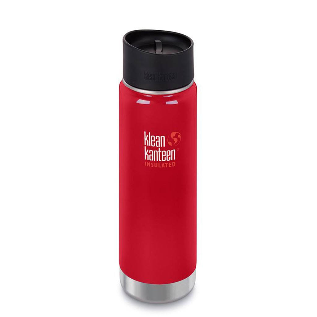 Klean Kanteen 20 oz. Wide Insulated Bottle with Cafe Cap - Mineral Red