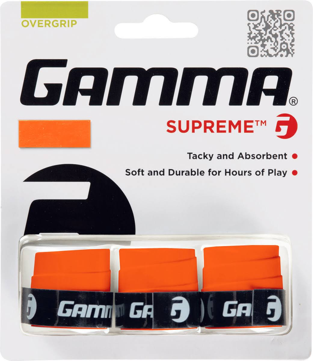 Gamma Supreme Power Overgrip - Orange, 3 Set