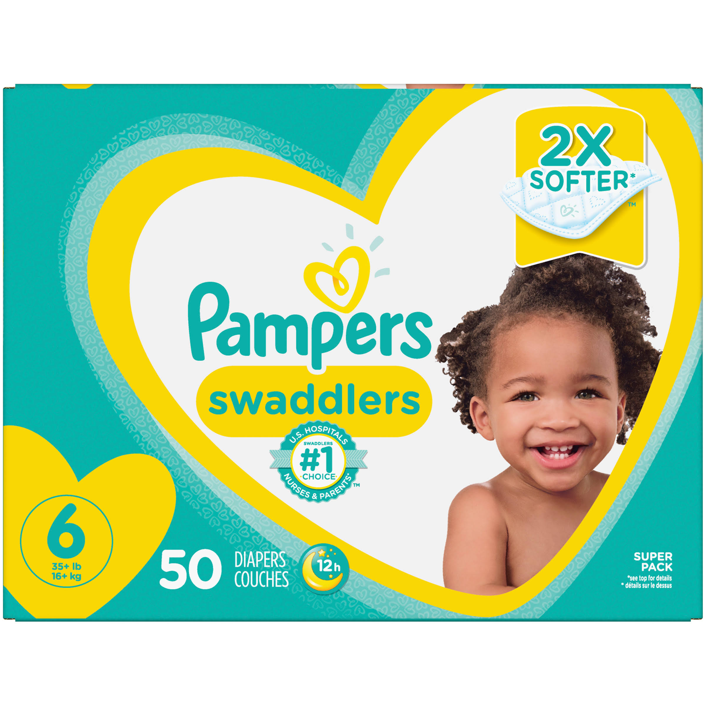 Pampers Swaddlers Diapers, Size 6 - 50 Count