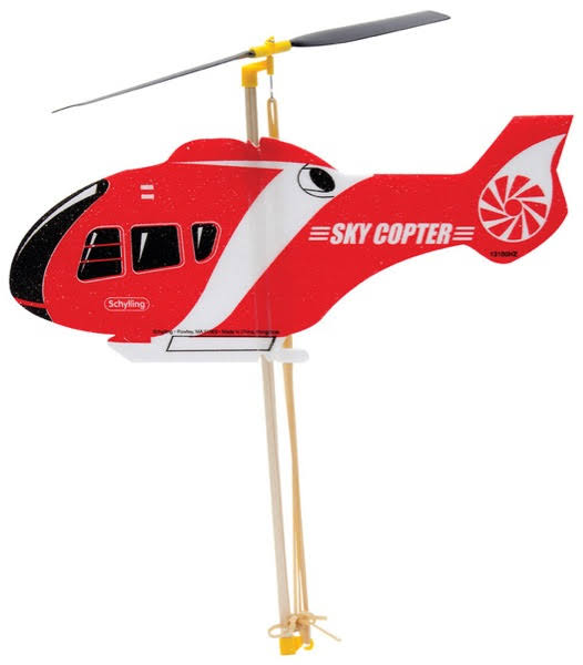Schylling Rubber Band Sky Copter Toy
