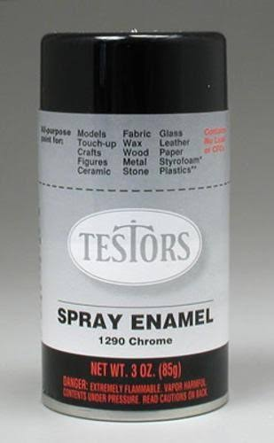 Testors Enamel Spray Paint Chrome 3oz