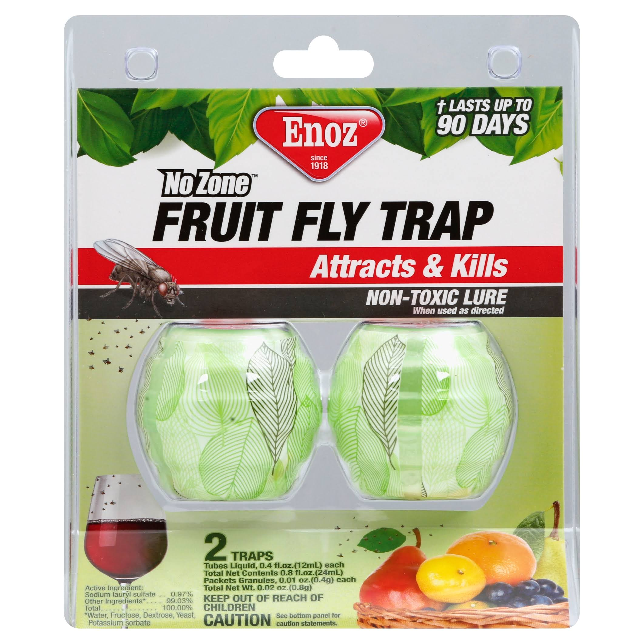 Enoz Fruit Fly Trap - 4oz