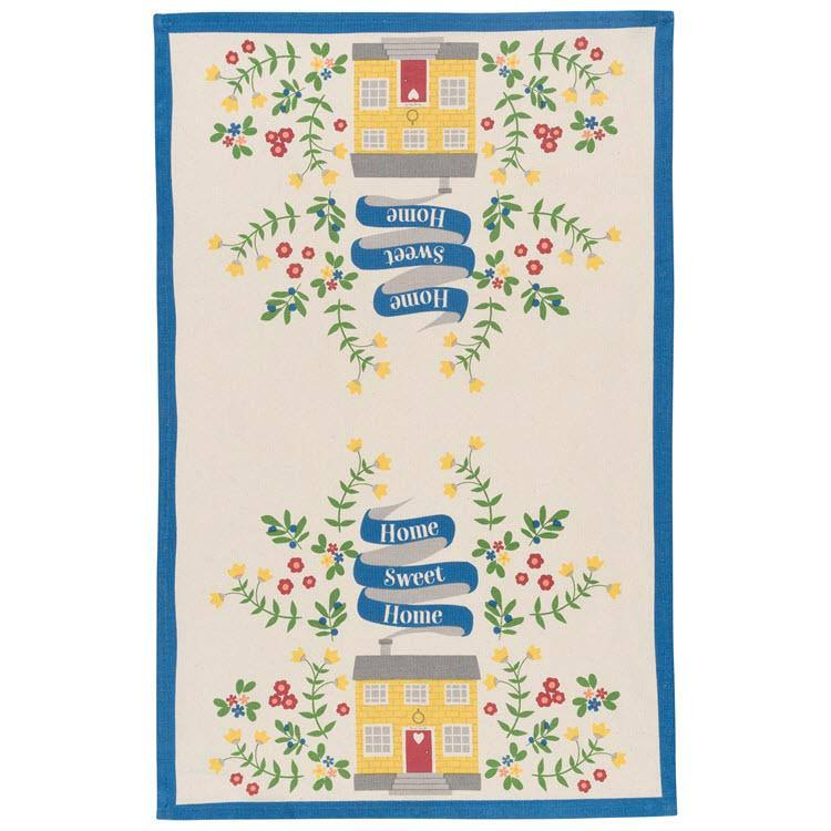 Now Designs 2177253 Cotton Kitchen Towel Print, Home Sweet Home