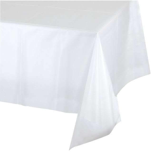 "Creative Converting Plastic Banquet Table Cover - Clear, 54""x108"""