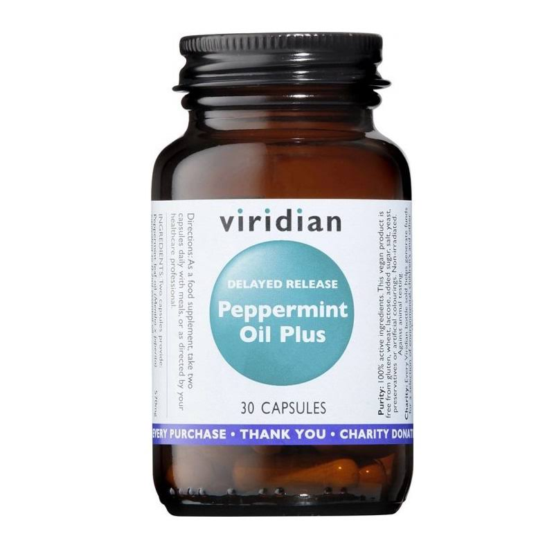 Viridian Peppermint Oil Plus 30 Capsules
