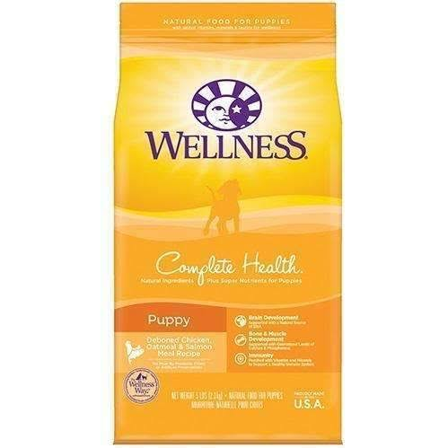 Wellness Complete Health Puppy Dry Dog Food - Deboned Chicken, Oatmeal & Salmon, 2.7kg