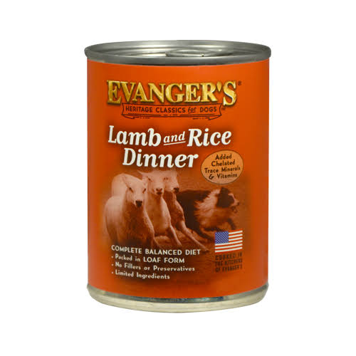 Evangers Complete Classic Dinner for Dogs - Lamb and Rice, 13oz