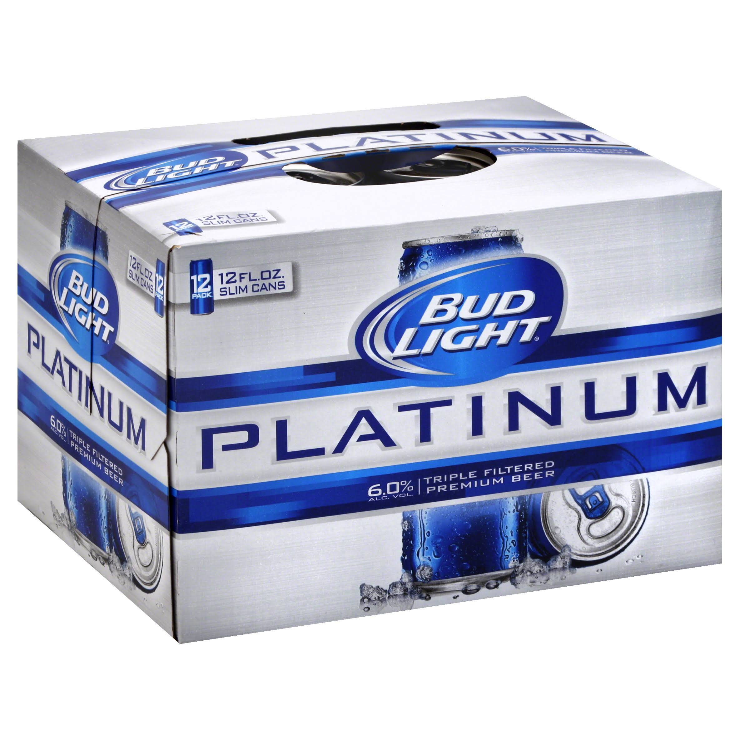 Bud Light Platinum Beer - 12 Cans