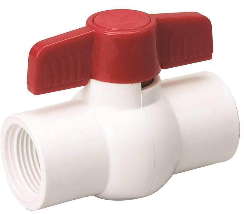 Mueller PVC Threaded Ball Valve - 1 1/4""
