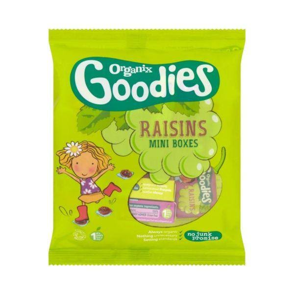 Organix Mini Boxes Goodies Raisins - 168g