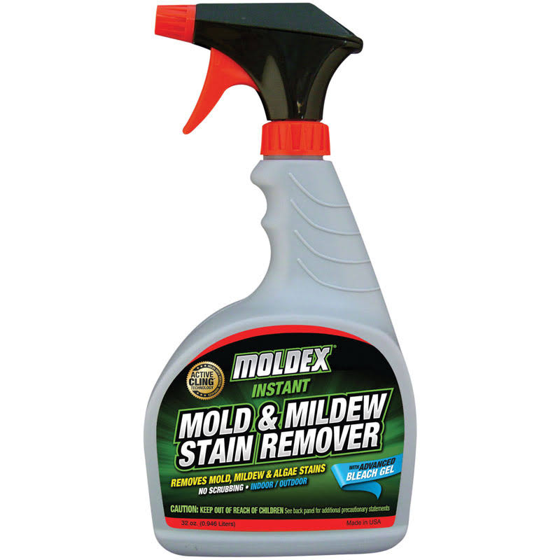 Moldex 7010 Mold and Mildew Instant Stain Remover Trigger Sprayer - 32oz