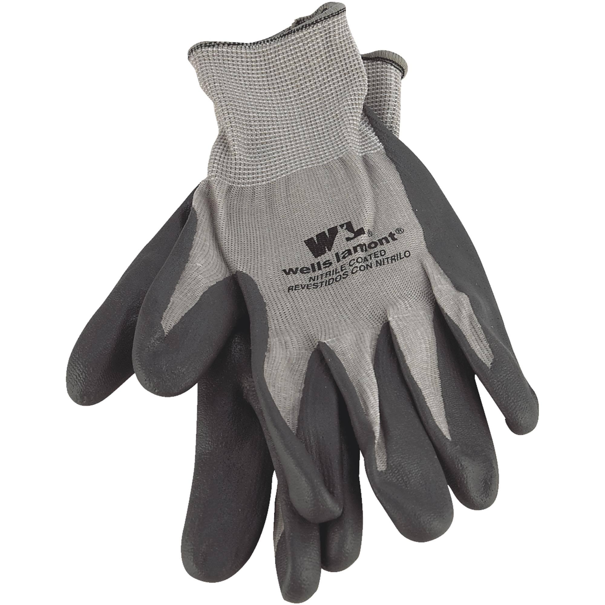 Wells Lamont Nitrile Coated Gloves - Large