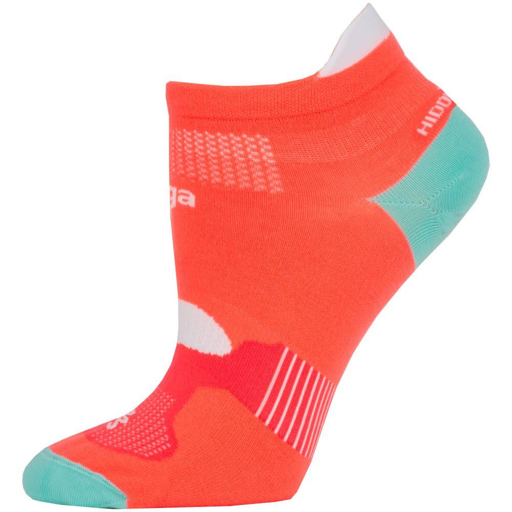 Balega Hidden Dry Socks BAL8948 Neon Coral/Aqualine - Small