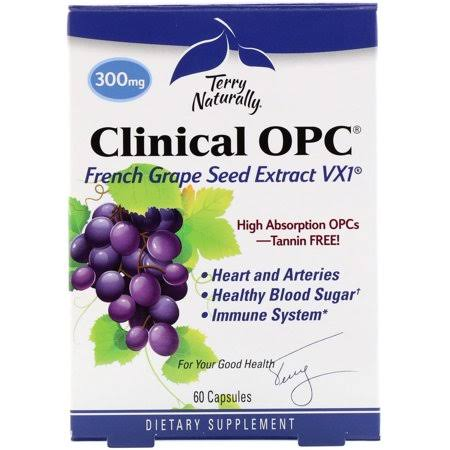 Terry Naturally Clinical Opc Dietary Supplement - French Grape Seed, 60 Capsules