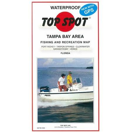Top Spot N202 Tampa Bay Port Rickey to Venice Fishing Map