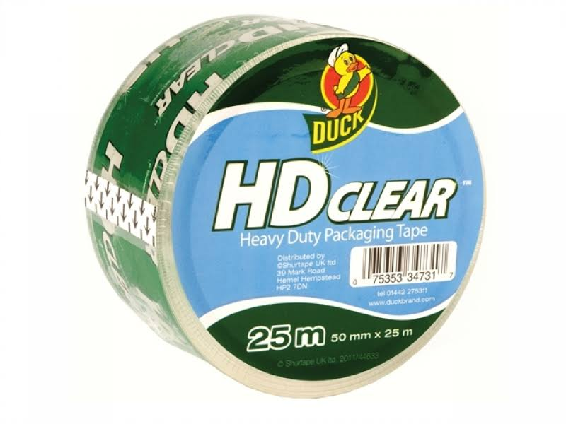 Duck Tape Packaging Heavy-Duty 50mm x 25m Clear