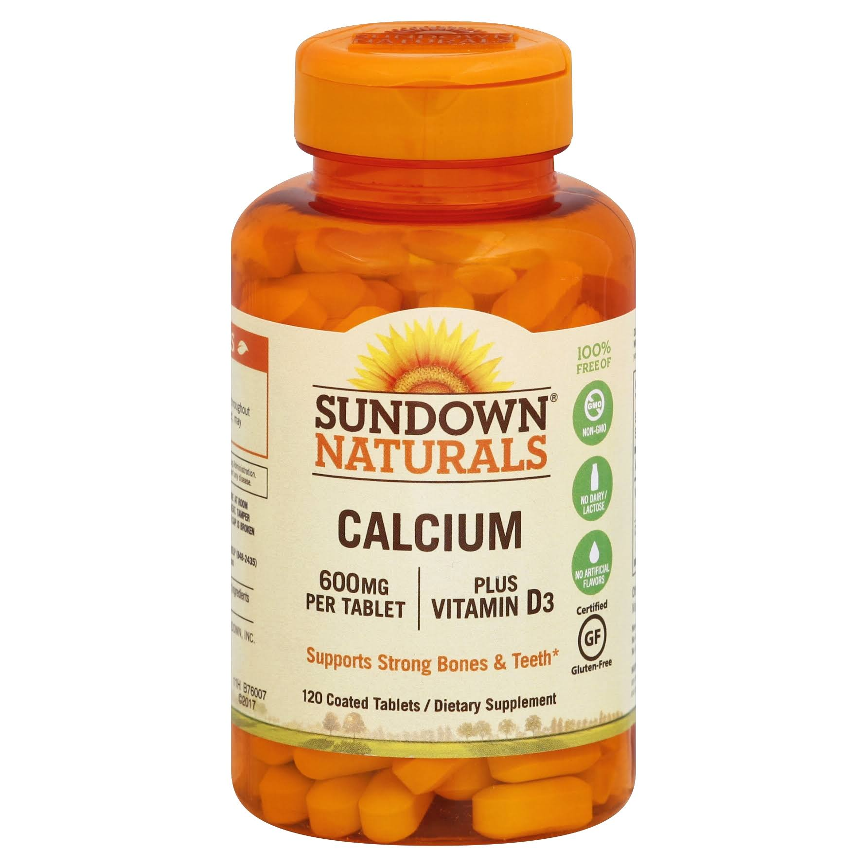 Sundown Naturals Calcium Plus Vitamin D3 Supplement - 120 Tablets