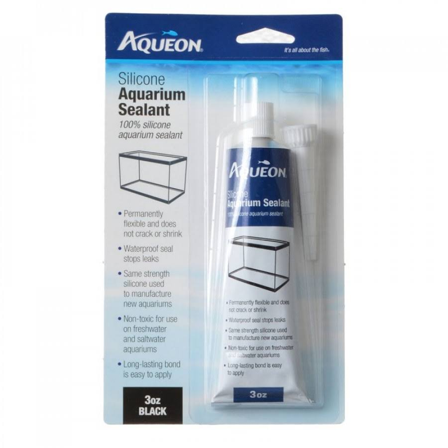 Aqueon Silicone Aquarium Sealant - Black, 3oz