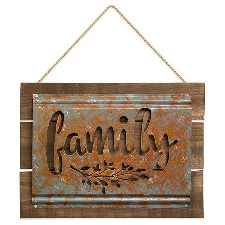Brownlow 'Family' Acid-Wash Wall Sign One-Size