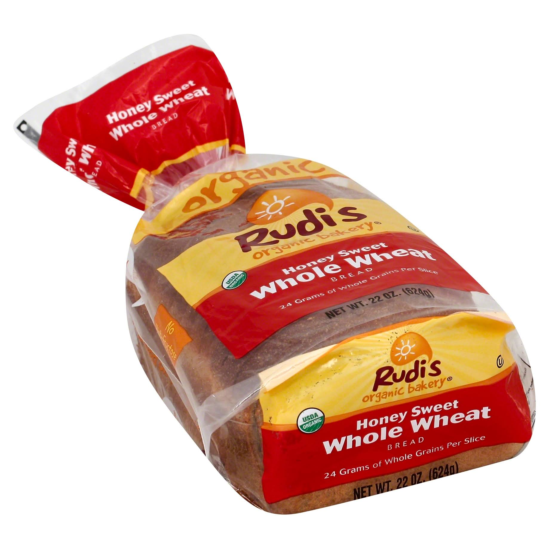 Rudi's Organic Honey Sweet Whole Wheat Bread - 22oz