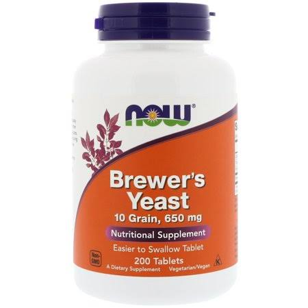 Now Foods Brewer's Yeast - 650mg, x200