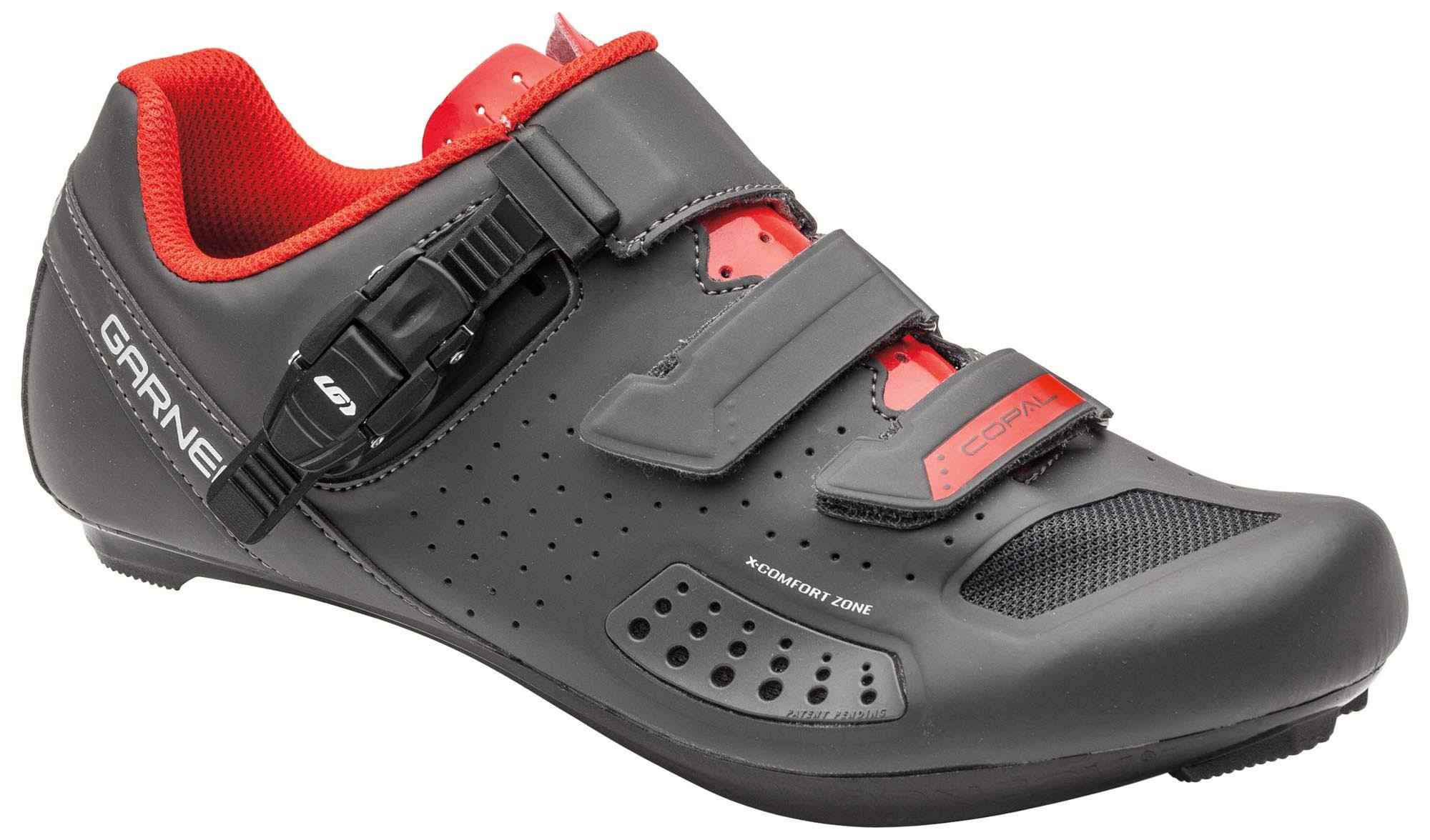 Louis Garneau Men's Copal II Shoe - 44 - Charcoal / Red