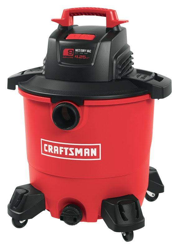 Craftsman Corded Wet/Dry Vacuum - 9 gal, 120V, Red