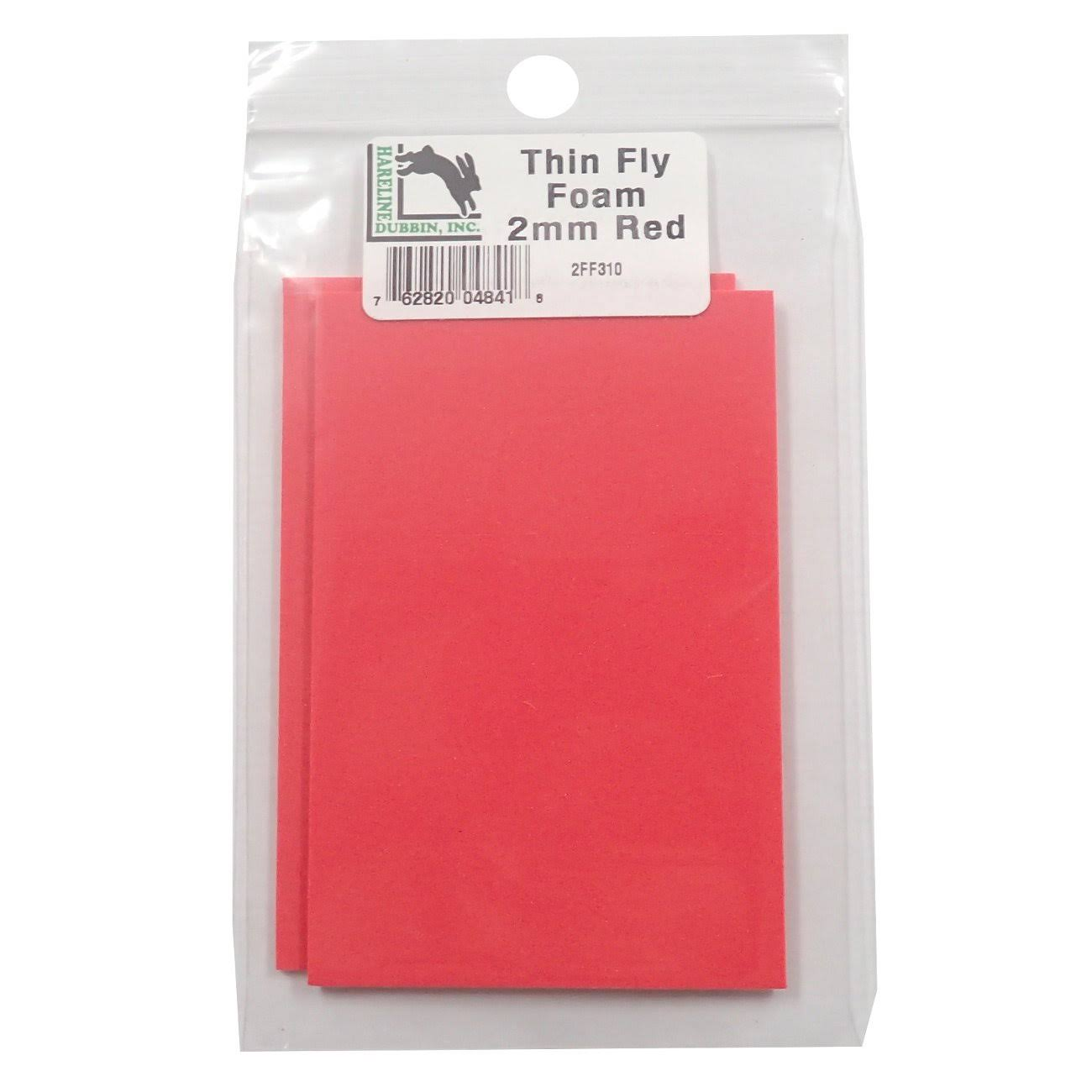 Hareline Thin Fly Foam Red