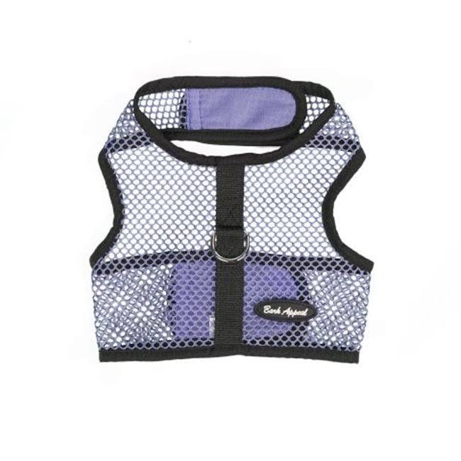 Bark Appeal LNWNG-XL Netted Wrap N Go Cloth Hook & Eye Harness Lavender - Extra Large