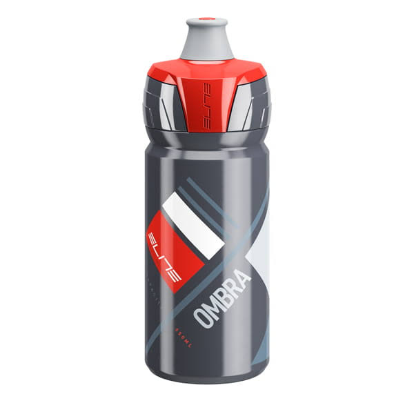 Elite Ombra Bicycle Water Bottle - Grey/Red, 550ml
