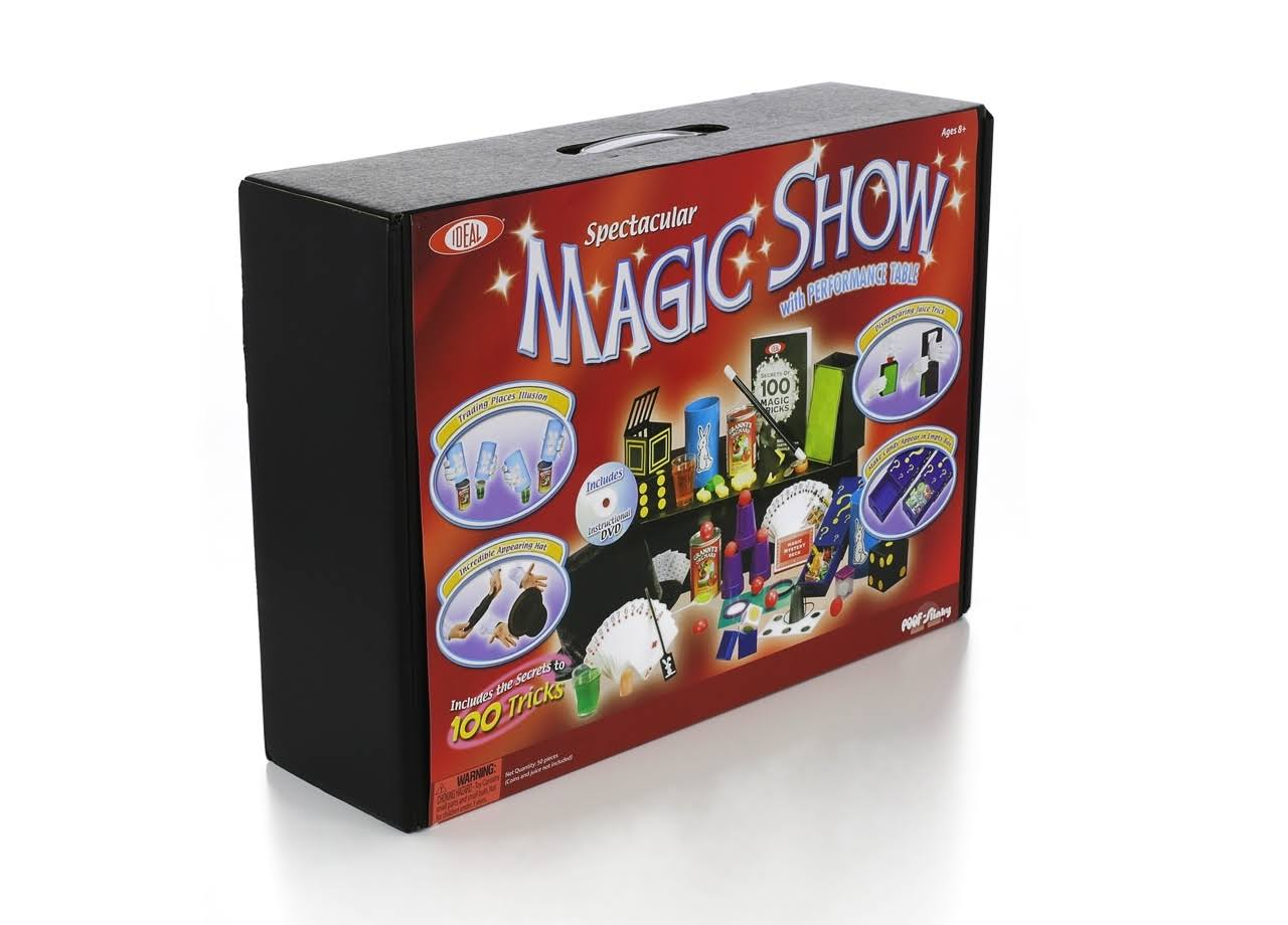 Ideal Spectacular Magic Show 100 Trick Suitcase