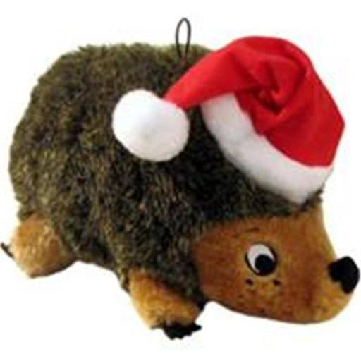 Outward Hound Holiday Hedgehogz Dog Plush Toy