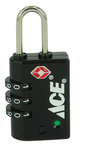 Ace Combination Luggage Lock - 3 Dial