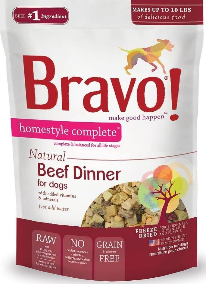 Bravo Homestyle Complete Freeze Dried Dog Food - Beef Dinner, 6lbs