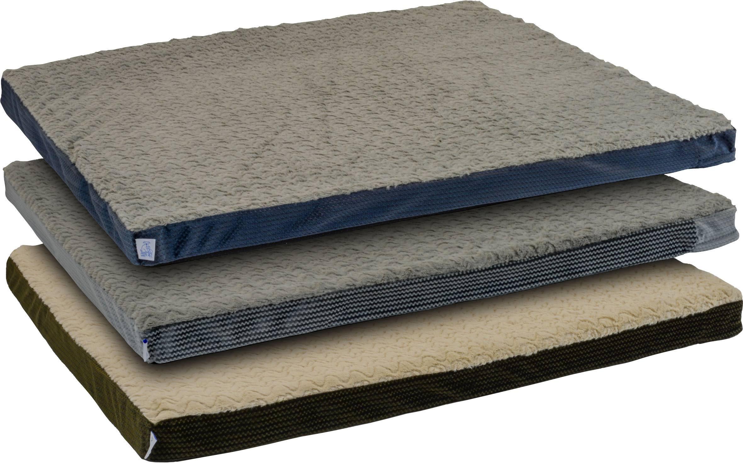 Dallas Assorted Cozy Pet Orthopedic Foam Rectangle Beds 27in x 36in
