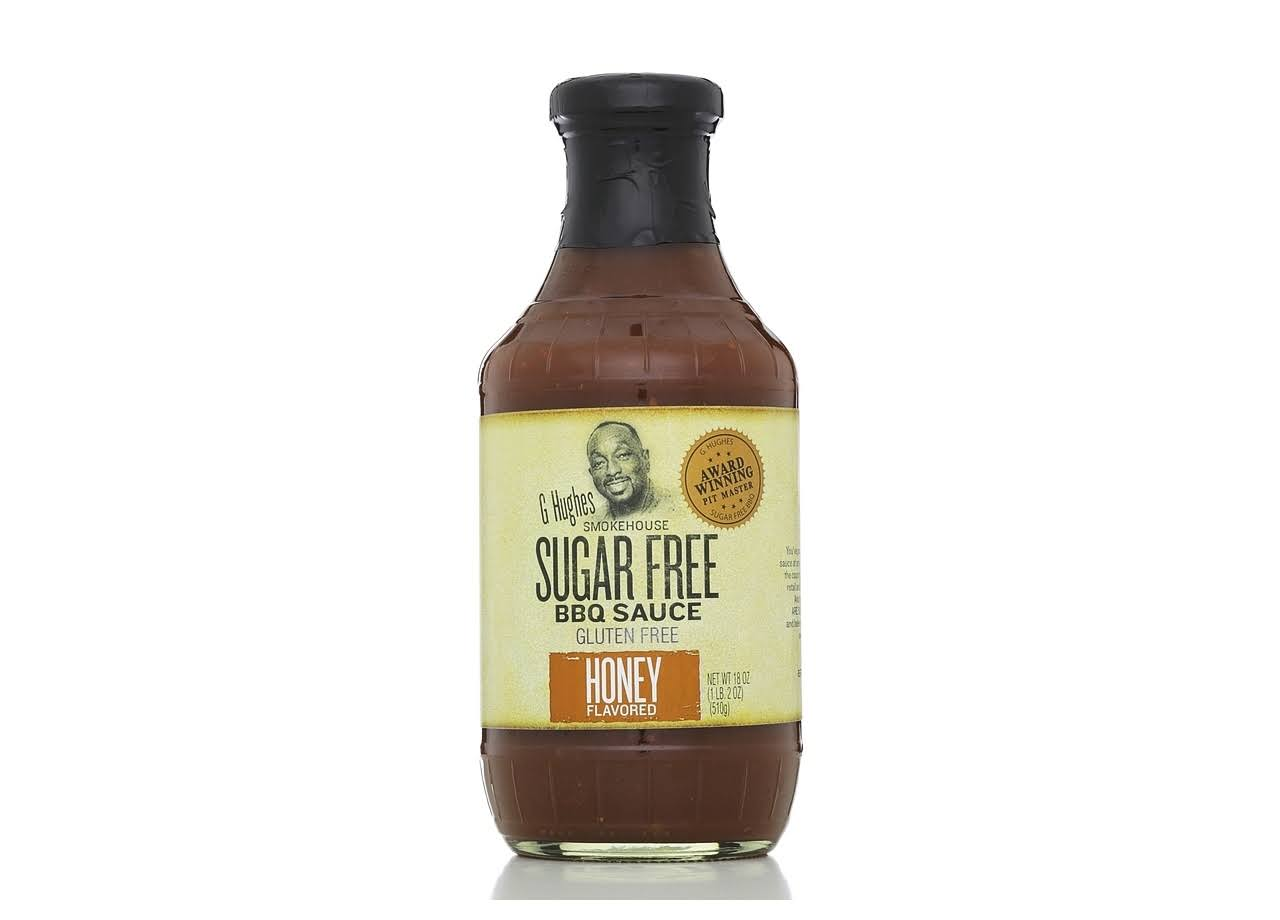 G Hughes Smokehouse Sugar Free BBQ Sauce - Honey Flavored, 18oz
