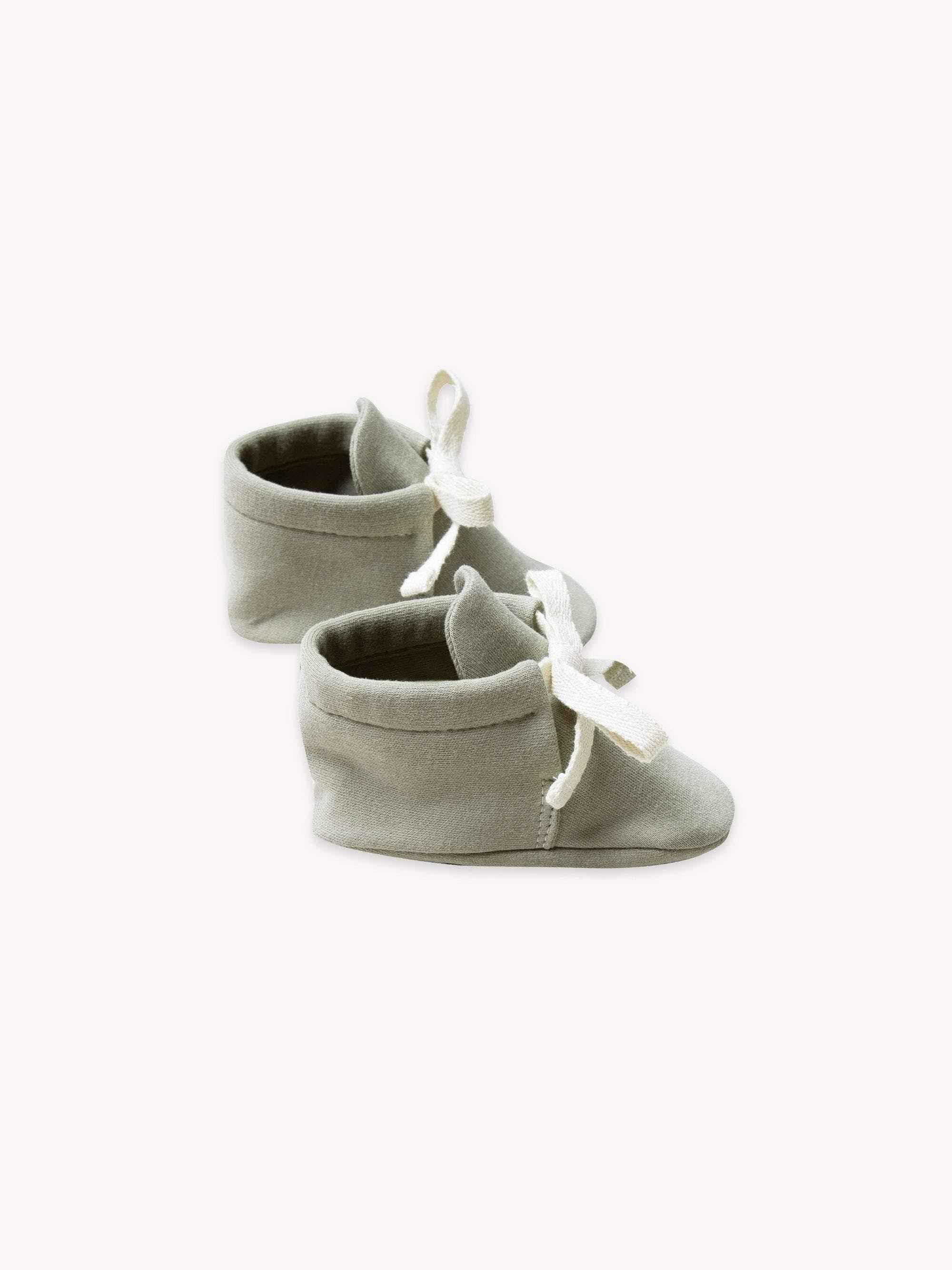 Quincy Mae Sage Baby Booties 6-12M