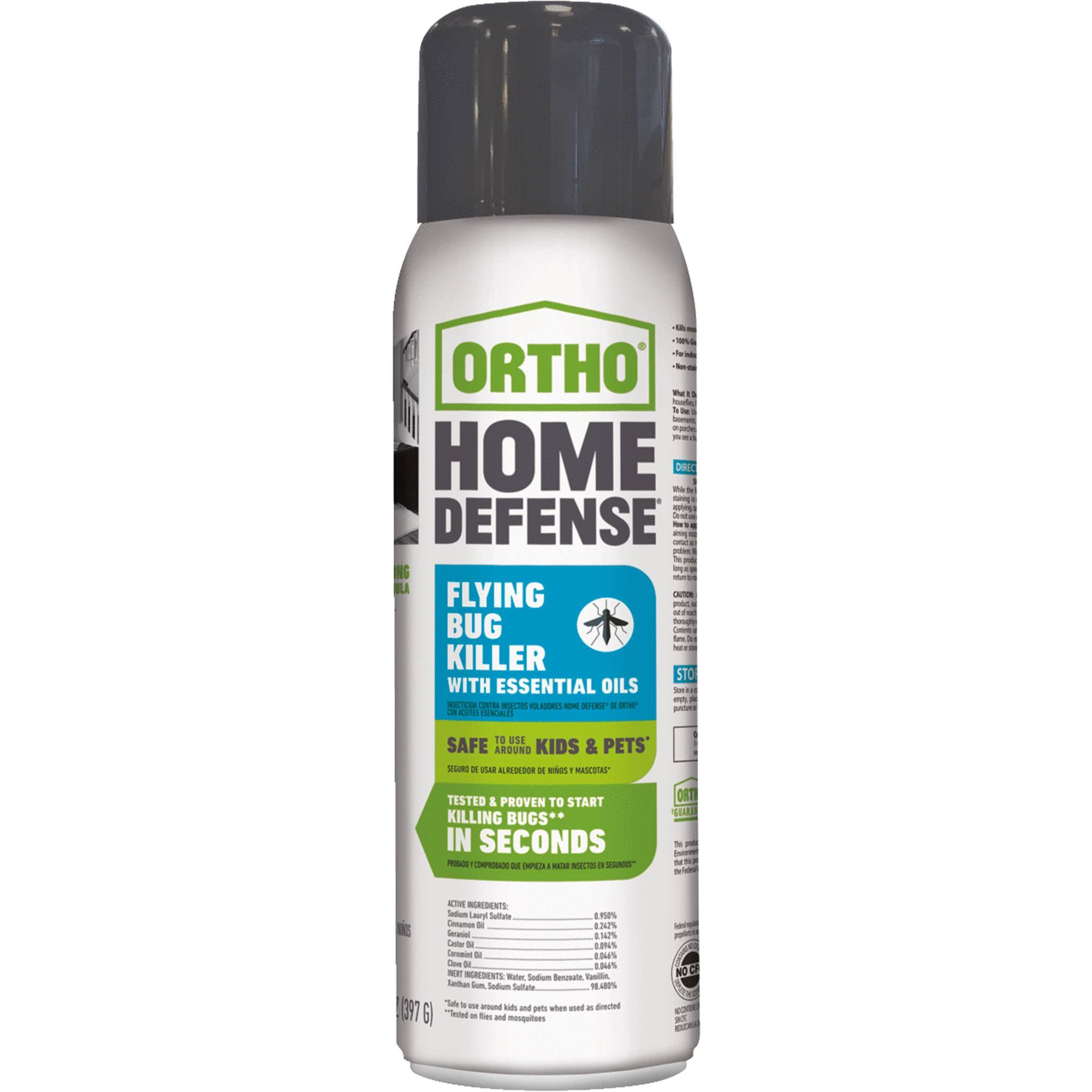 Ortho Home Defense Flying Bug Killer - with Essential Oils, 14oz