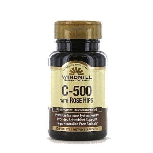 Windmill Vitamin C-500 With Rosehips - 500mg, 100 Tablets