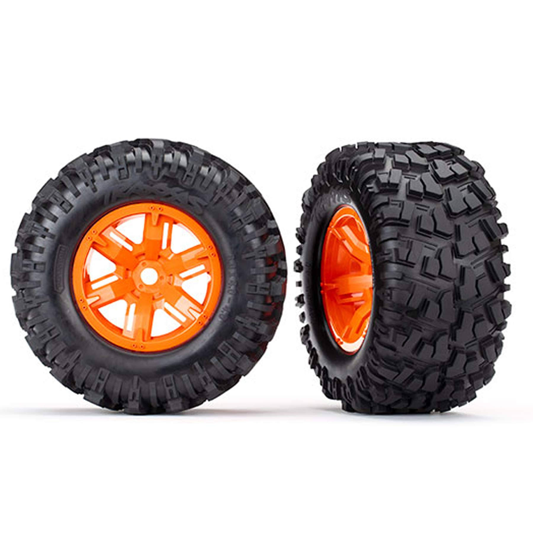 Traxxas Maxx AT Tires X Wheels - Orange