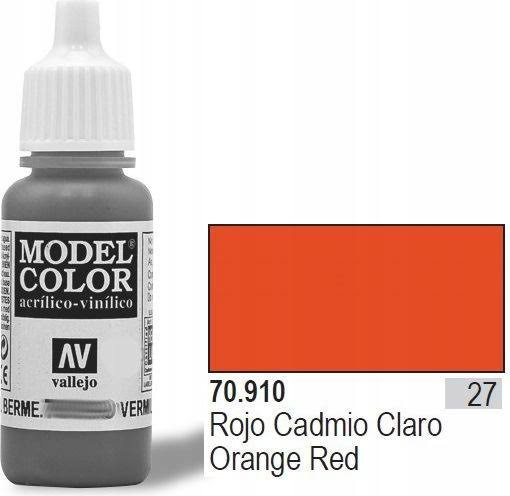 Vallejo Model Acrylic Colors Paint - Orange and Red, 17ml